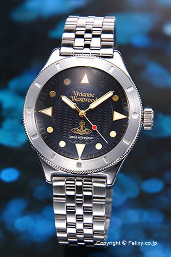 ヴィヴィアン ウエストウッド Vivienne Westwood 腕時計 Smithfield (スミスフィールド) ブラック VV160BKSL