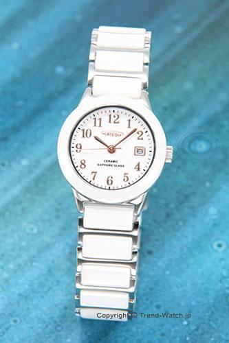 オレオール / AUREOLE 腕時計 Ceramic(セラミック) ホワイトセラミックケース/ホワイト(アラビア) SW-481L-3【オレオール 時計】