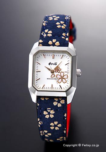 和心 時計 WACOCORO 腕時計 UDAINDEN(宇陀印傳) レディース WA-002L-J