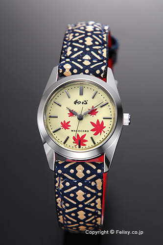 和心 時計 WACOCORO 腕時計 UDAINDEN(宇陀印傳) レディース WA-001L-N