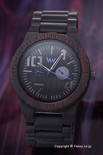 ウィーウッド WE WOOD 腕時計 Oblivio (オブリビオ) ブラック/ブルー