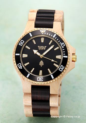 ウィーウッド WE WOOD 腕時計 Date MB Beige Black