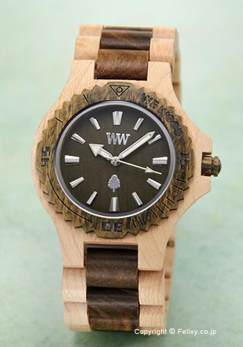 ウィーウッド WE WOOD 腕時計 メンズ レディース 男女兼用 DATE BEIGE ARMY