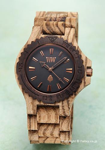ウィーウッド WE WOOD 腕時計 Date Zebrano Rough