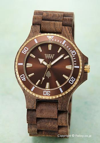 ウィーウッド WE WOOD 腕時計 Date MB Choco Rough BR
