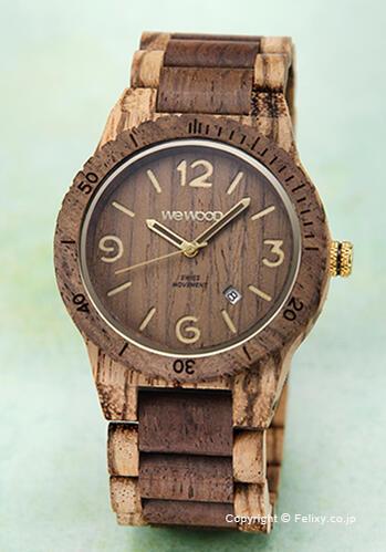 ウィーウッド WE WOOD 腕時計 Alpha SW Zebrano Choco
