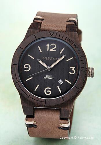 ウィーウッド WE WOOD 腕時計 Alpha SW Black Rough