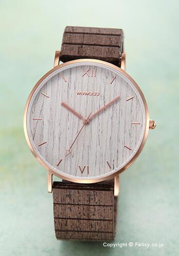 ウィーウッド WE WOOD 腕時計 Aurora Rosegold Apricot