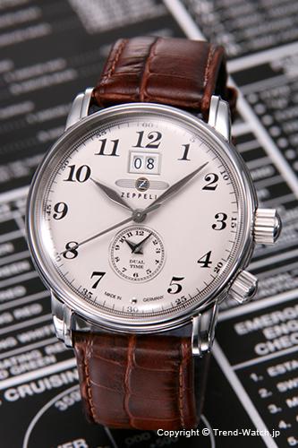 ツェッペリン 腕時計 メンズ ZEPPELIN LZ 127 Count Zeppelin (LZ127 カウント ツェッペリン) デュアルタイム ベージュ 7644-5N 【76445N】