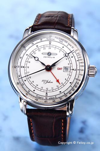 ツェッペリン 腕時計 メンズ ZEPPELIN Special Edition 100 Years Pulsimater GMT (100周年記念モデル パルスメーター GMT) シルバー 7646-1