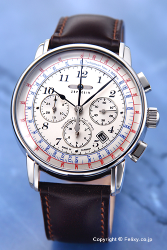 ツェッペリン ZEPPELIN 腕時計 LZ126 Los Angeles (LZ126 ロサンゼルス) シルバー/ダークブラウンレザーストラップ 7624-4
