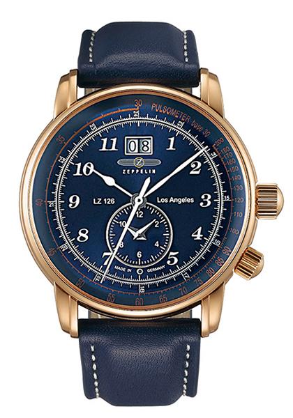 ツェッペリン ZEPPELIN 腕時計 LZ126 Los Angeles (LZ126 ロサンゼルス) ネイビー×ローズゴールド 8646-3