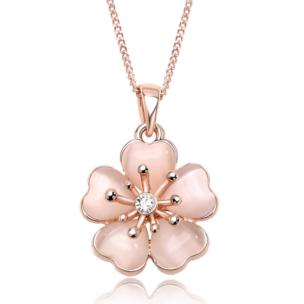 日本人の心の花 桜 ネックレス IUHA 淡いピンク桜ネックレス 櫻 爆売りセール開催中 さくら 18Kピンクゴールドメッキ 品質保証