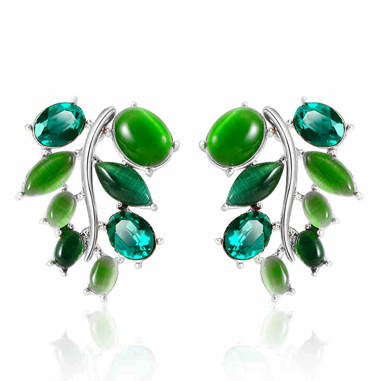 IUHA ★ Greece myth series earrings synthetic Emerald metal allergy aware  discoloration prevention