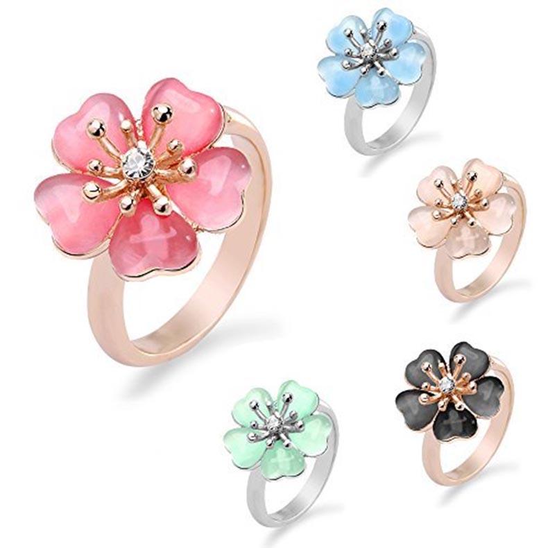 金属アレルギー対応 変色防止 IUHA 季節の花 上品な桜リング ミニサイズ 格安 価格でご提供いたします 櫻 開店祝い さくら