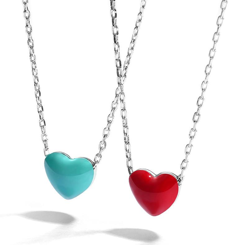 プレゼントに最適 IUHA バレンタイン ギフト 赤いハート アレルギー対応 S925 銀製 ネックレス 期間限定で特別価格 使い勝手の良い シルバー製