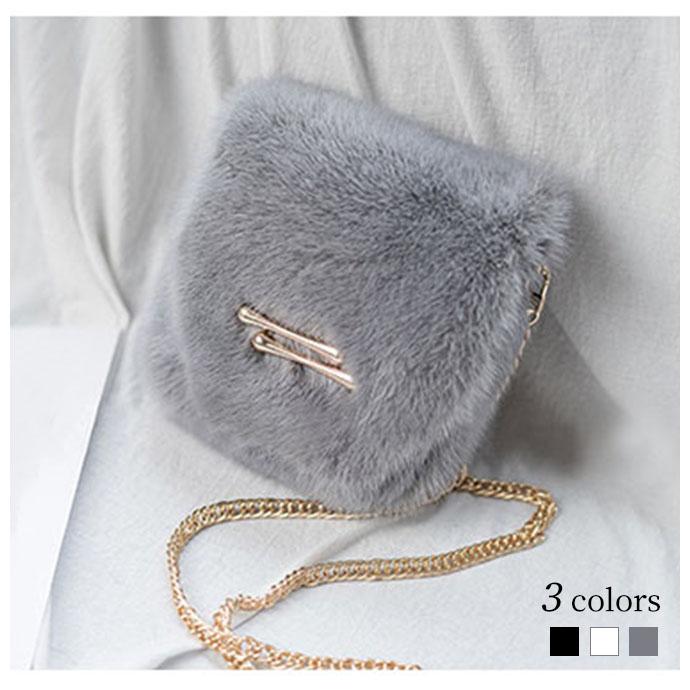 ファーバッグ ショルダーバッグ ミンクファー バッグ レディース 斜め掛け バッグ ショルダー ミニバッグ 毛皮かばん カワイイ チェーン ショルダー mink fur bag