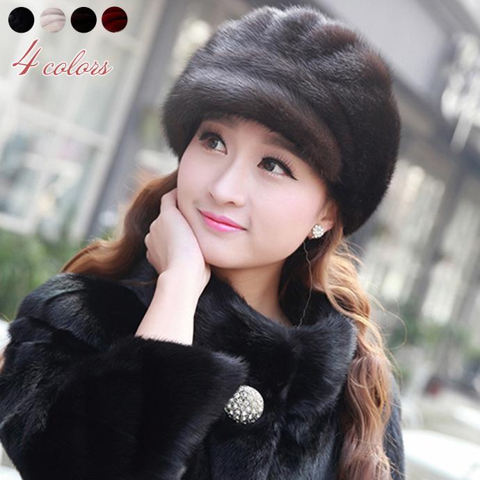 ミンクファー 帽子 リアルファー キャスケット リアルミンクファー ぼうし 毛皮ハット キャップ もこもこ ふわふわファー レディース帽子 小顔効果 防寒 保温 柔らかい フィット ファッション小物 冬 ファーアイテム プレゼント mink fur lady's