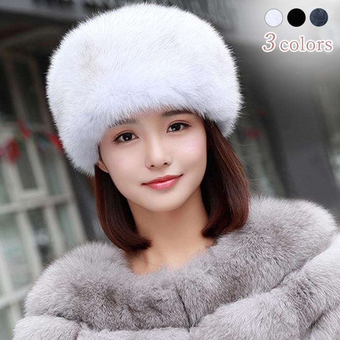 フォックスファー 帽子 リアルファー ラウンドハット ぼうし 毛皮ハット キャップ もこもこ ふわふわファー レディース帽子 小顔効果 シンプル 防寒 保温 耳カバー 柔らかい フィット ファッション小物 冬 ファーアイテム プレゼント fox fur lady's ladies