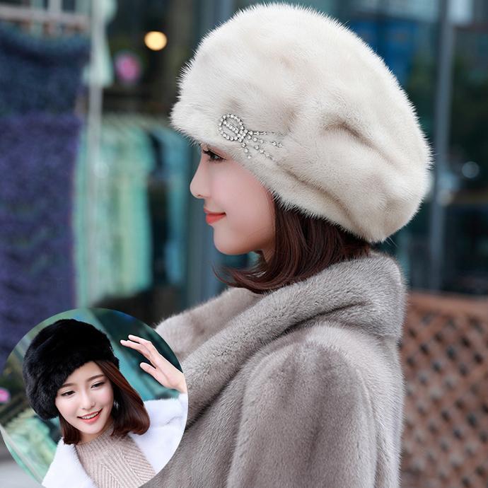 ベレー帽 ミンクファー 帽子 ミンクハット 小顔効果 ふわふわ 暖かい もこもこ レディース 帽子 ぼうし 毛皮ハット 柔らかい ファー帽子 毛皮帽子 アクセサリー付 リアルファー 冬 冬物 レディースハット ファッション おしゃれ プレゼント ギフト mink fur hat
