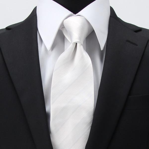 白ネクタイ 結婚式 二次会 パーティー フォーマル ネクタイ フォーマル メンズ TIE-782REI [フォーマル][おしゃれ][M便 1/3]