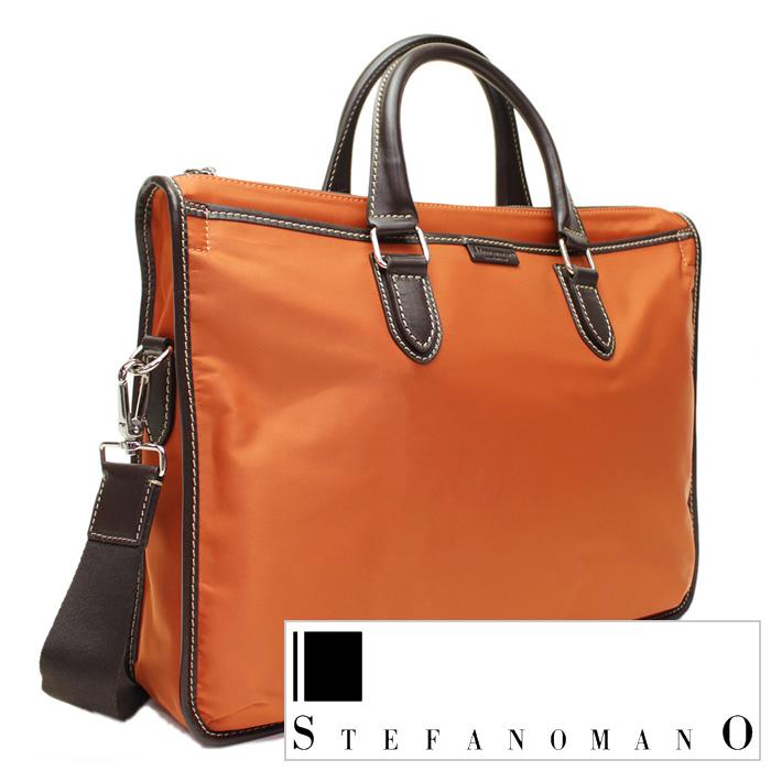 ステファノマーノブリーフケース STEFANOMANOバッグ STEFANO MANO ブリーフケース ステファノ マーノ バッグ メンズ 3941-GR-ORDBR [おしゃれ 鞄 カバン かばん ビジネス ショルダー 送料無料] 父の日 プレゼント