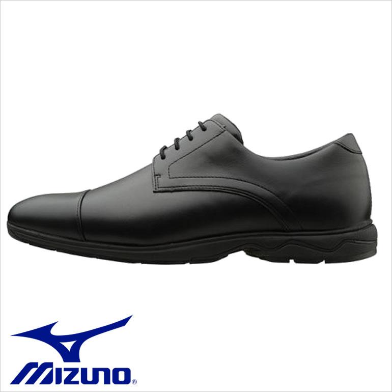 ミズノ ウォーキングシューズ MIZUNO 靴 メンズ B1GC1621 [MIZUNO ミズノ メンズ 靴 ウォーキング ビジネスシューズ クッション性 通気性 耐久性 ヒールラバー交換可能 ワイドフィット 3E EEE B1GC162109 ブラック LD40 ST2]
