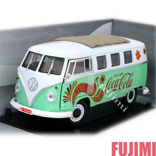 1962 Volkswagen Samba Minibus ppmint grn 1/18 Coca-Cola 13797円【 フォルクスワーゲン サンバ バス タイプ2 ダイキャストカー ミニカー ペパーミント コカコーラ COKE ヒッピー サイケ 】【コンビニ受取対応商品】