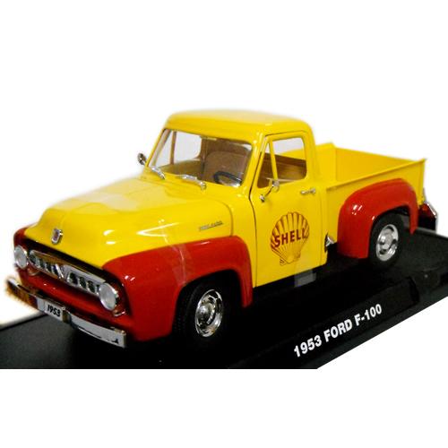SHELL OIL - 1953 FORD F-100 & VINTAGE GAS PUMP 1/18 Greenlight 11112円 【 フォード トラック ミニカー グリーンライト ダイキャストカー アメトラ シェル ガスポンプ ジオラマ 】