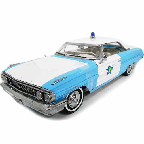 1964 FORD GALAXIE 500 Blue/White 1/18 SUN STAR 12037円【フォード ギャラクシー アメリカンポリス 警察 パトカー ミニカー ダイキャストカー アメ車】【151009】【コンビニ受取対応商品】