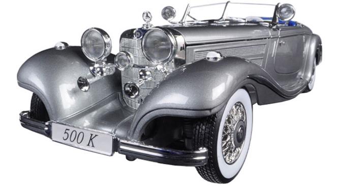 1936 Mercedes-Benz 500 K Typ Special roadster silver 1/18 Maisto 9167円【 メルセデス ベンツ 500 K 銀 シルバー マイスト ミニカー ダイキャストカー クラシックカー 】【コンビニ受取対応商品】