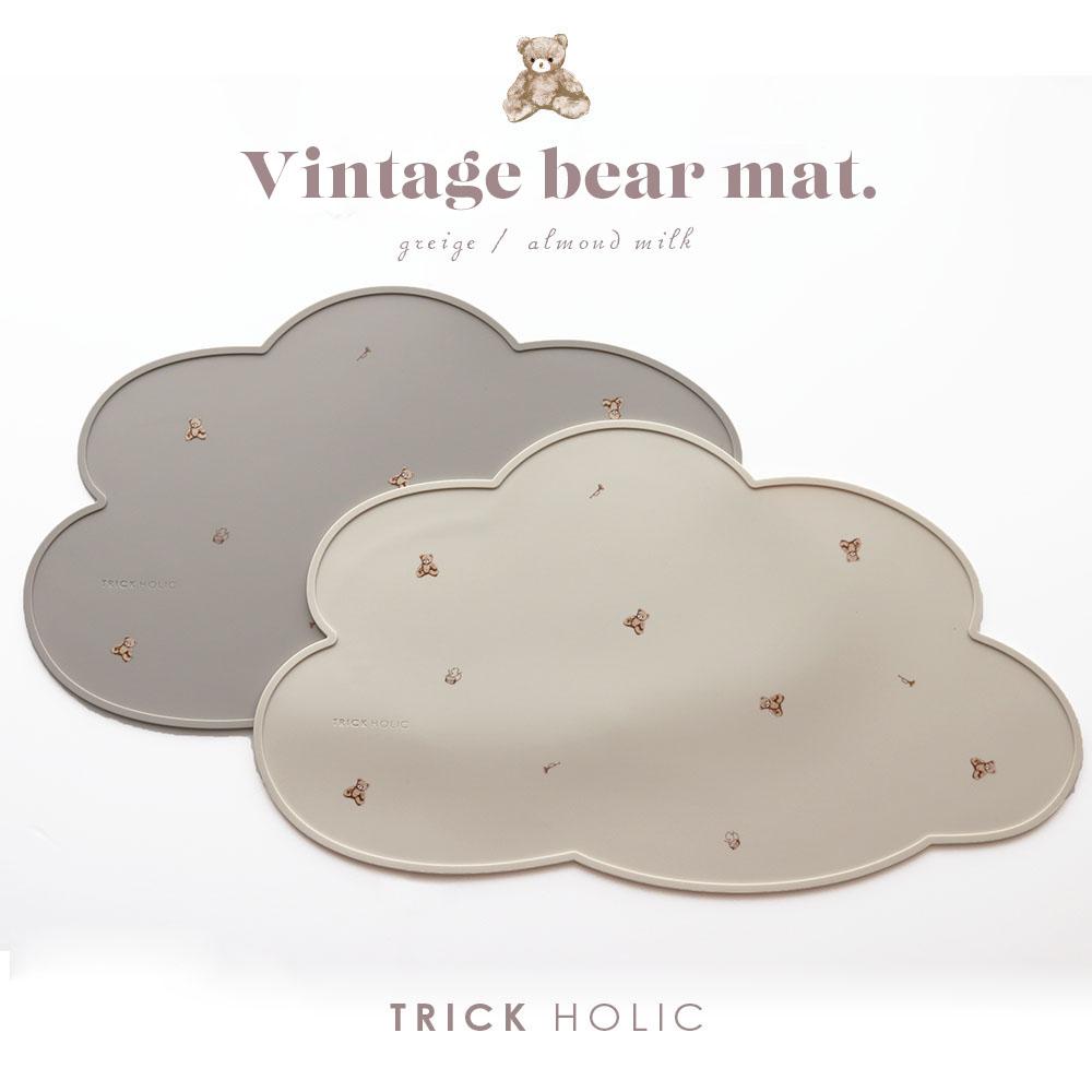 TRICKHOLICシリコンマット TRICK HOLIC vintage bear silicone 安心と信頼 特売 mat トリックホリック 意匠登録済 お食事マット シリコンマット