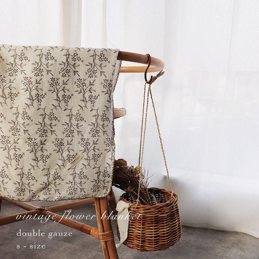 割り引き テレビで話題 汗ばむ季節に最適な厚み 2重ガーゼ vintage flower blanket S-size トリックホリック ヴィンテージブランケット 約70×85cm HOLIC TRICK