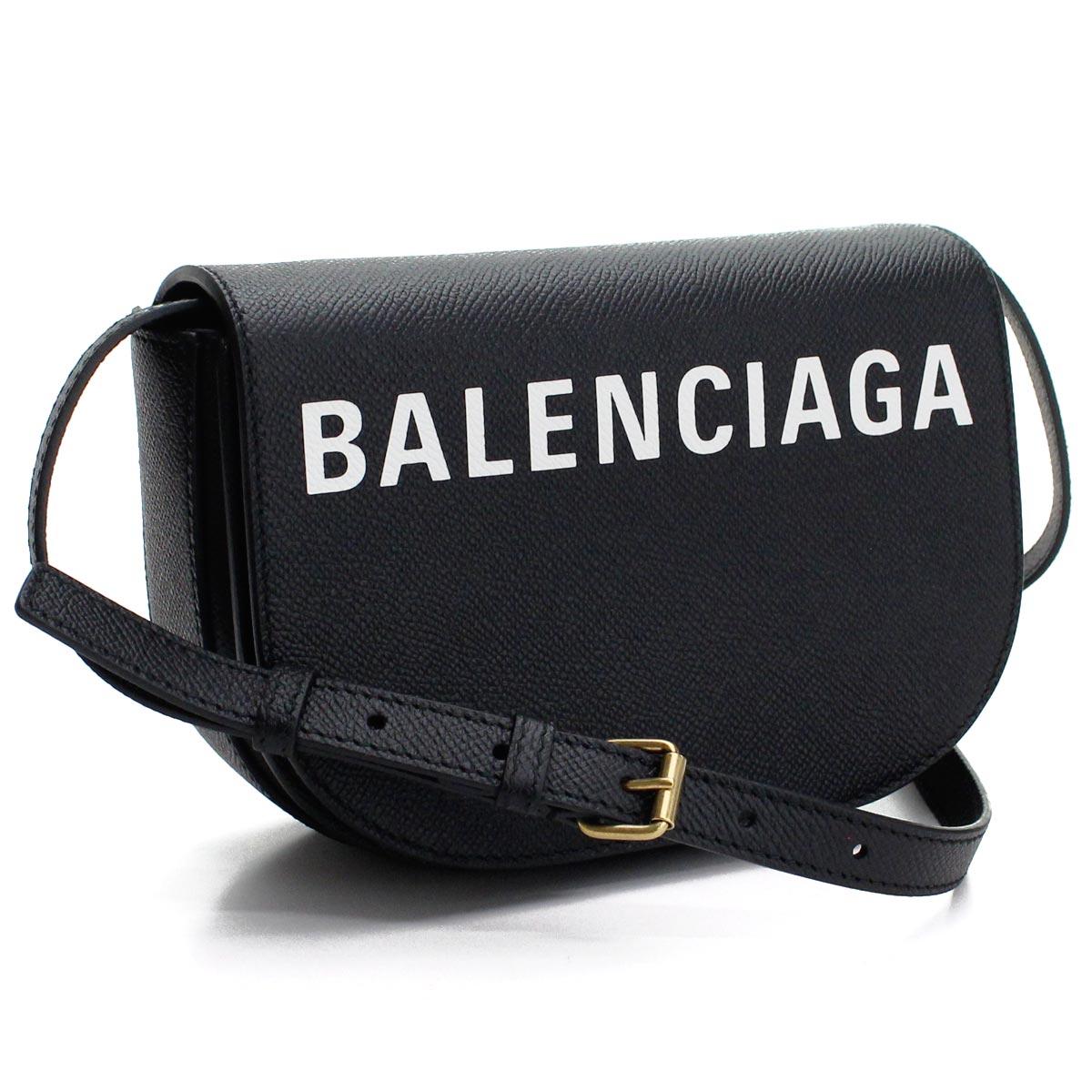 バレンシアガ BALENCIAGA VILLE ヴィル デイバッグ XS 斜め掛け ショルダーバッグ 550639 0OTNM 1090 ブラック レディース