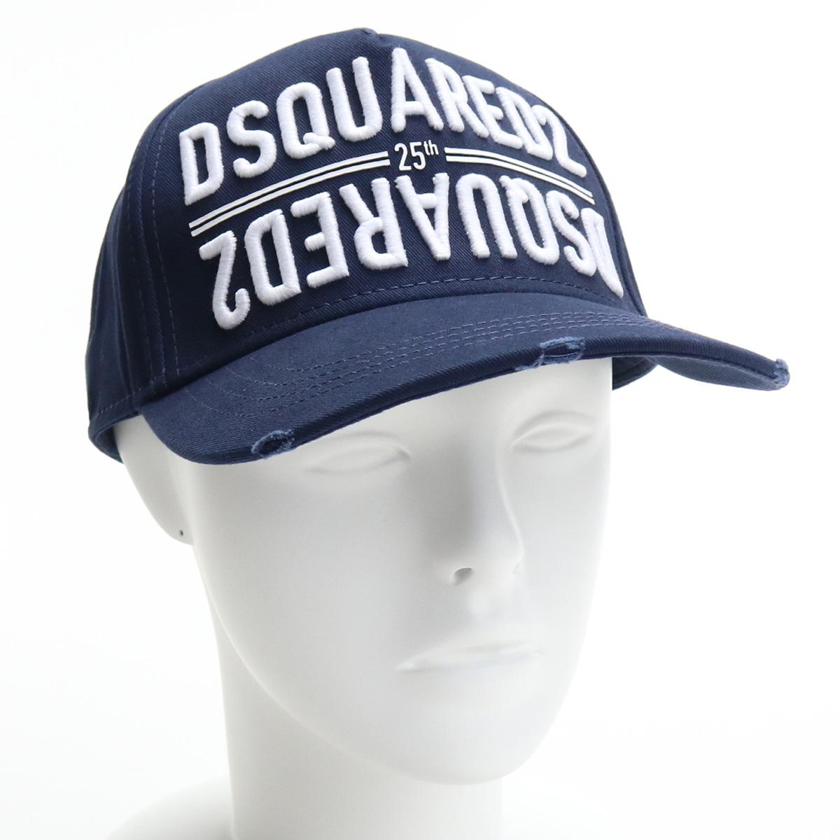 再再販 ※ 送料無料 ラッピング無料 41%OFF ブランド公式サイト掲載価格25 300円 ディースクエアード DSQUARED2 メンズ-ロゴ 3073 帽子類 ネイビー系 メンズ 05C00001 BCM0340 公式ショップ bos-17 cap-01 キャップ