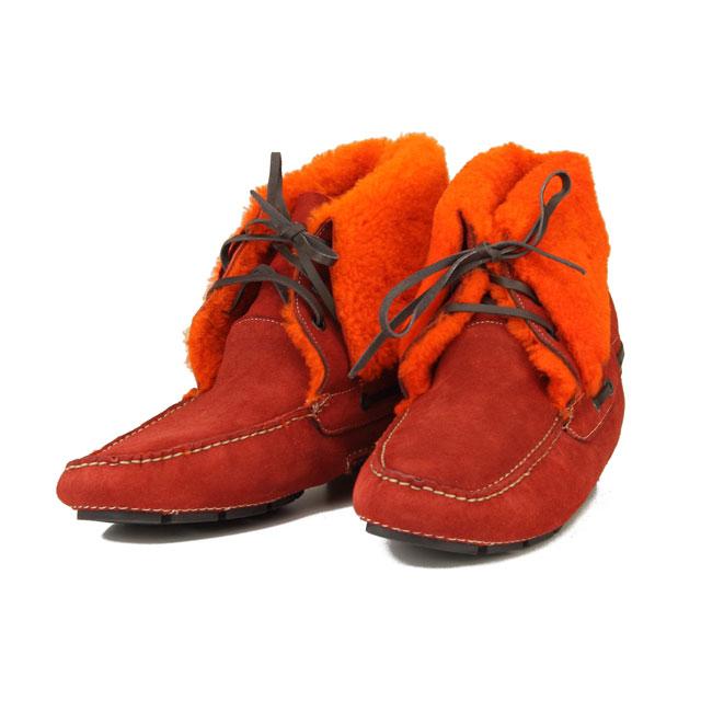 ボルジョーリ Borgioli ハンドメイドムートンブーツスエードシューズ 9011840 BOLERO レッド系/オレンジ系 メンズ【キャッシュレス 5% 還元】