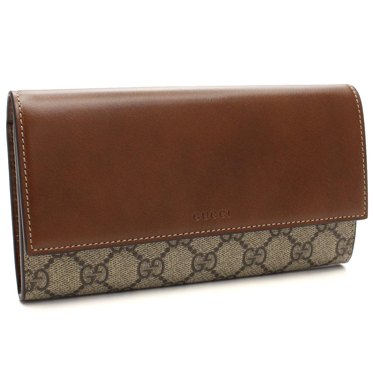 グッチ GUCCI 財布 二つ折り 長財布 小銭入付き 410100 KLQHG 8526 ブラウン系 メンズ レディース