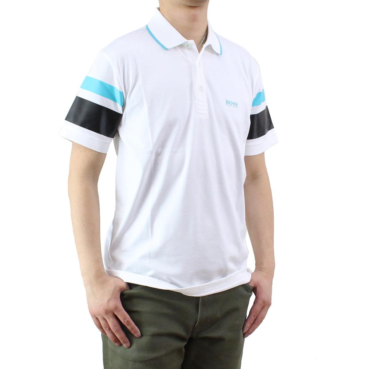 ヒューゴ ボス HUGO BOSS PADDY 5 メンズ ポロシャツ 50329638 10175216 100 ホワイト系 メンズ 半袖 ゴルフウェア【キャッシュレス 5% 還元】