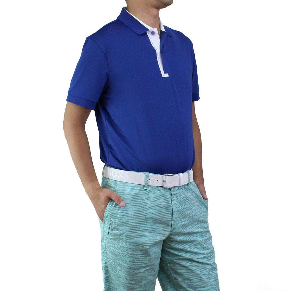 ヒューゴ ボス HUGO BOSS PADDY PRO 1 パディ プロ ポロシャツ 半袖 ゴルフウェア 50403515 10208323 462 ブルー系 メンズ【キャッシュレス 5% 還元】