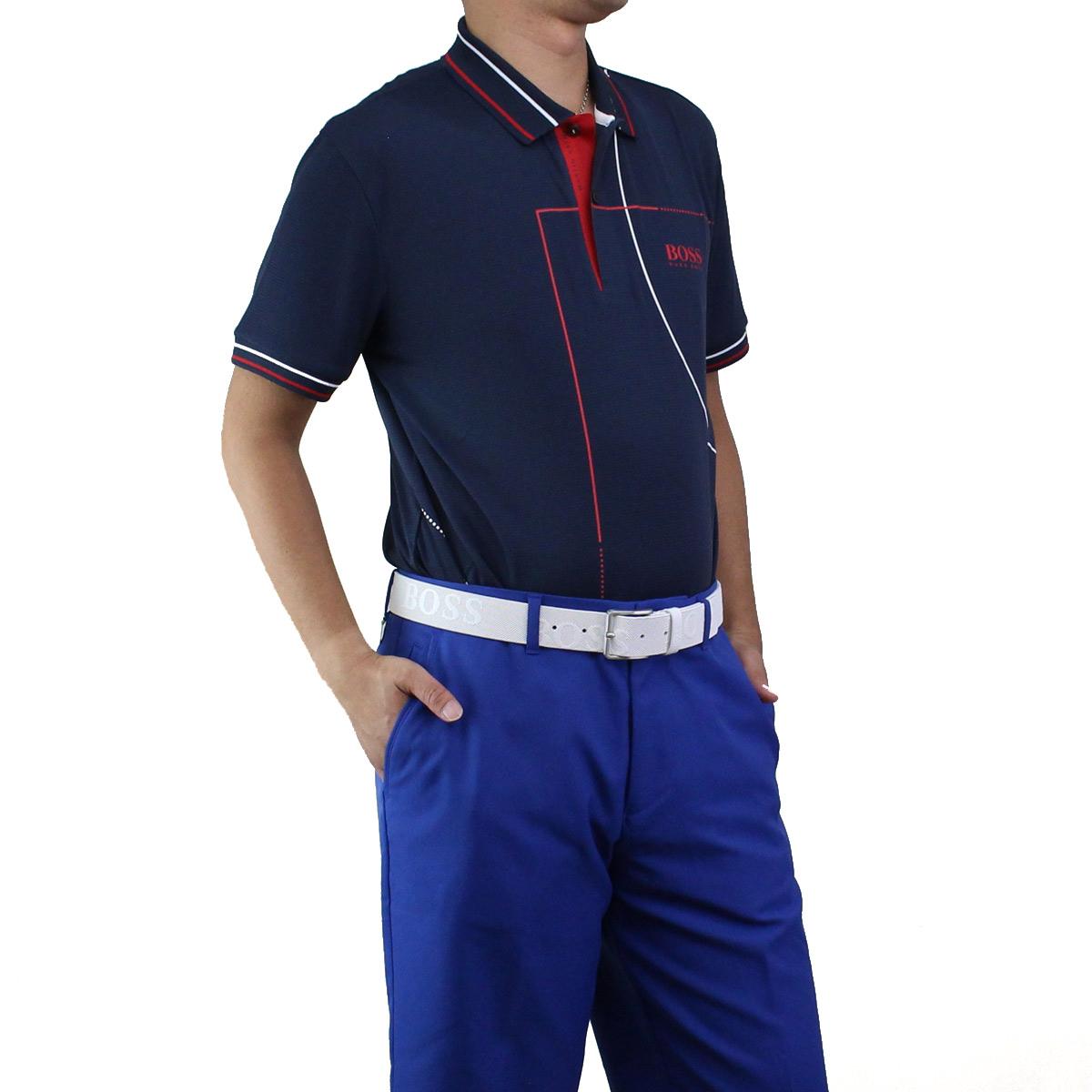 ヒューゴ ボス HUGO BOSS PADDY MK1 パディ マーク1 ポロシャツ 半袖 ゴルフウェア 50403516 10198091 410 ネイビー系 メンズ【キャッシュレス 5% 還元】