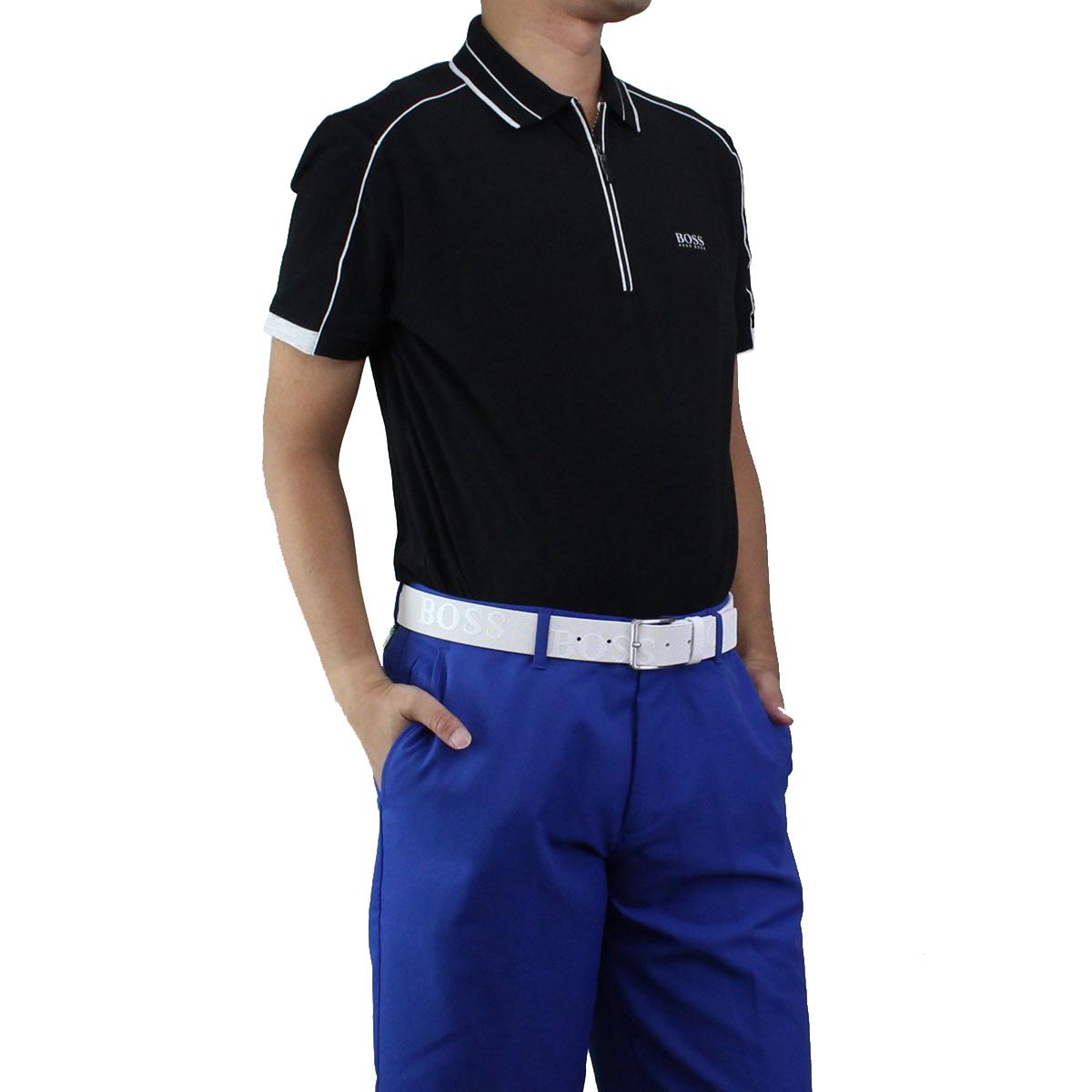 ※ ラッピング無料 ヒューゴ ボス ポロシャツ 半袖 ゴルフウェア HUGO BOSS 50404274 ブラック 時間指定不可 フィリックス 期間限定特価品 men's 001 メンズ PHILIX 10214873