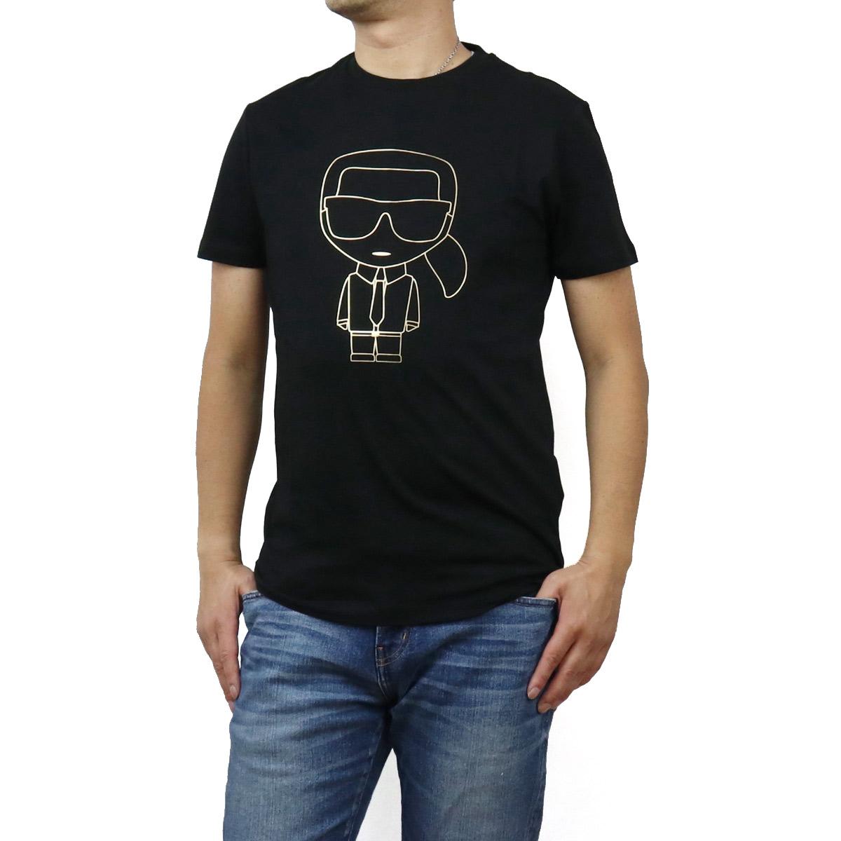 ※ 送料無料 信頼 ラッピング無料 2020秋冬新作 カール ラガーフェルド Karl Lagerfeld メンズ-Tシャツ 502224 apparel-01 755040 メンズ 990 格安激安 ブラック IKONIK bos-12 BLACK