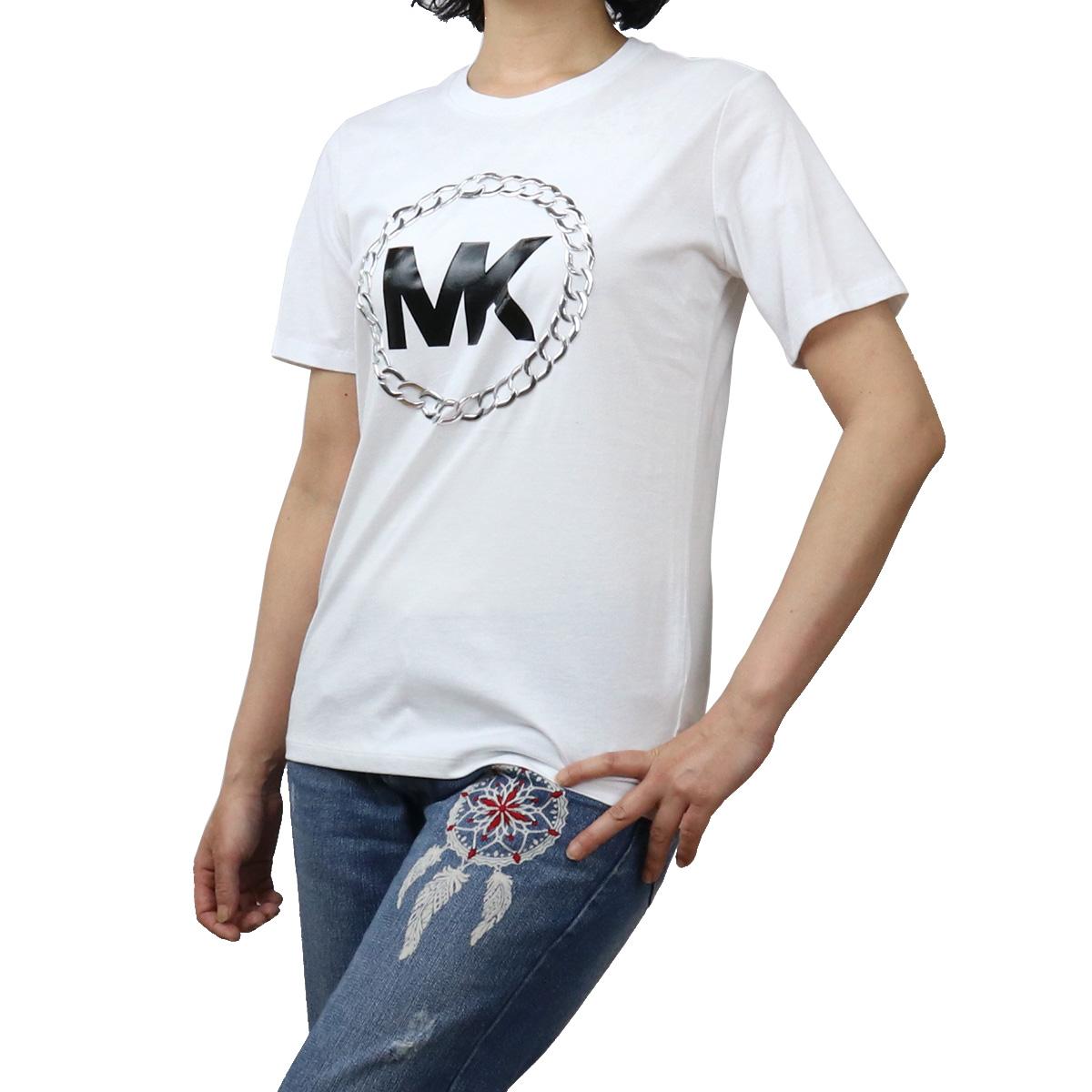 ※ 送料無料 ラッピング無料 マイケル コース MICHAEL KORS ts-01 永遠の定番モデル 割引 WHITE レディース-Tシャツ ホワイト系 apparel-01 MH05MVP97J