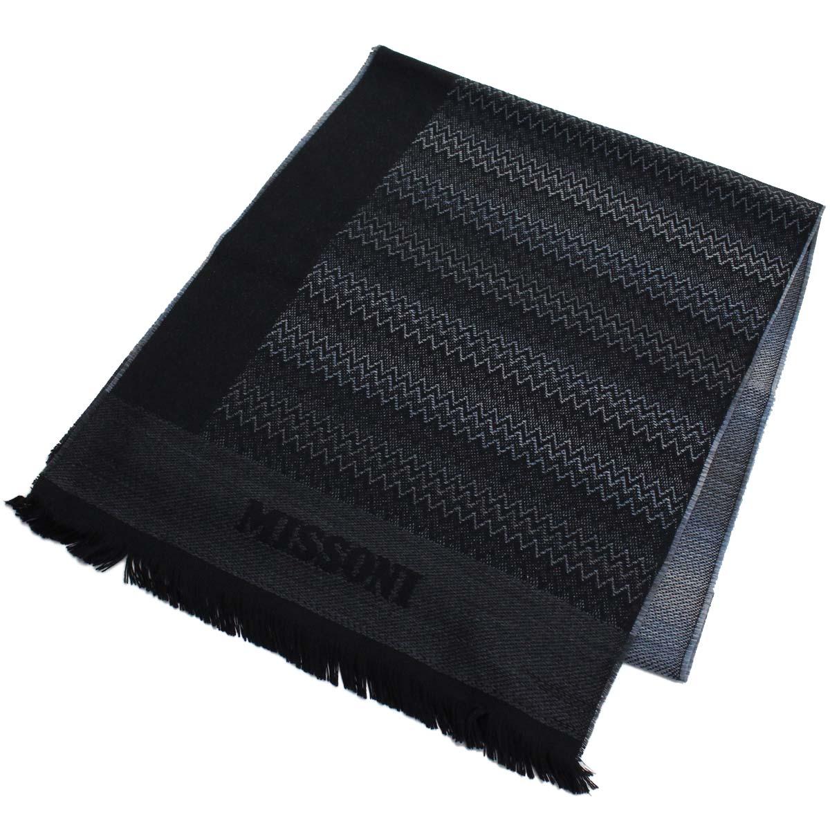 ※ 送料無料 ラッピング無料 ミッソーニ 商品 MISSONI ウール マフラー warm-01 買取 0833 レディース 4 メンズ マルチカラー ブラック