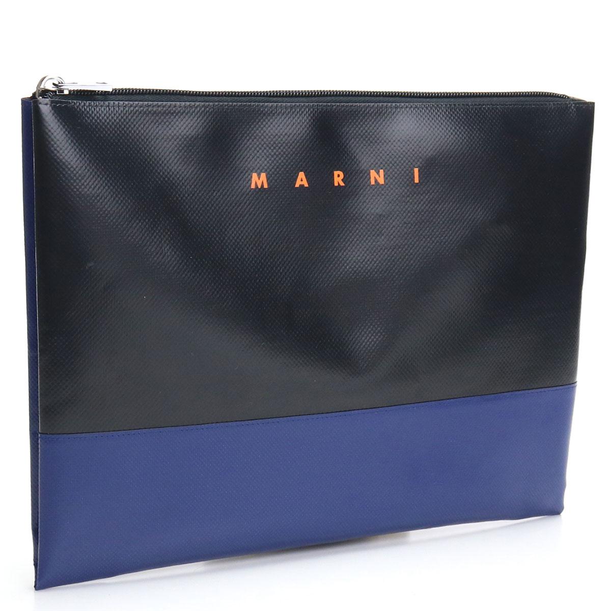 ※ 送料無料 ラッピング無料 マルニ MARNI 低価格 クラッチバッグ PHMI0001A2 P3572 ファクトリーアウトレット ブラック メンズ ZL811 seco-01 bos-22 bag-01 ブルー系