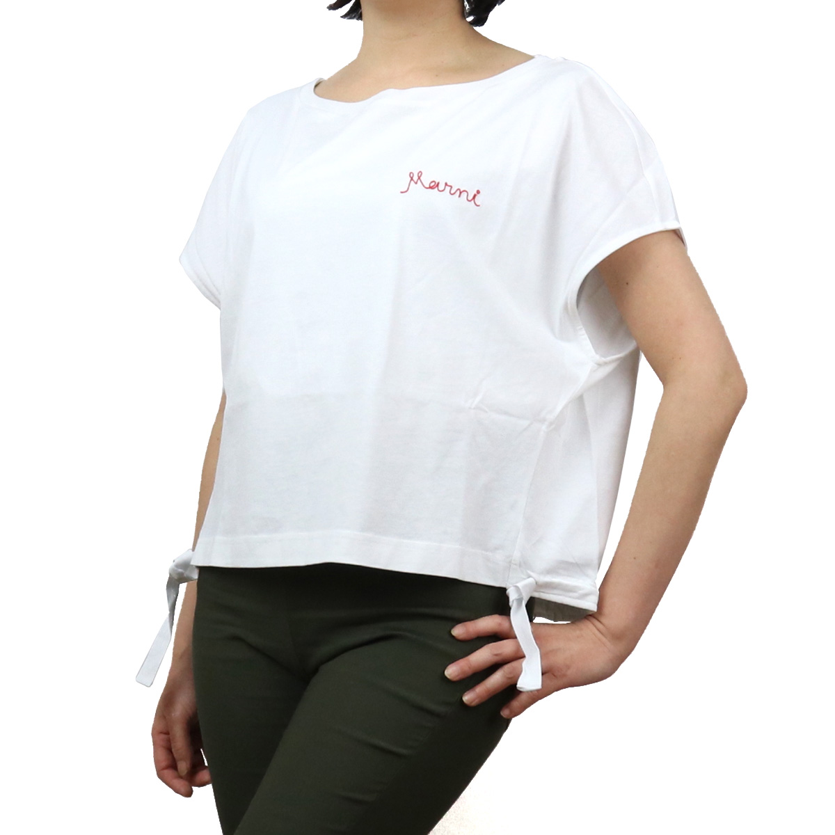 ※ 送料無料 低廉 ラッピング無料 2021春夏新作 贈呈 マルニ MARNI レディース-Tシャツ THJE0050MX UTCZ57 bos-22 レディース apparel-01 ts-01 ホワイト系 00W01