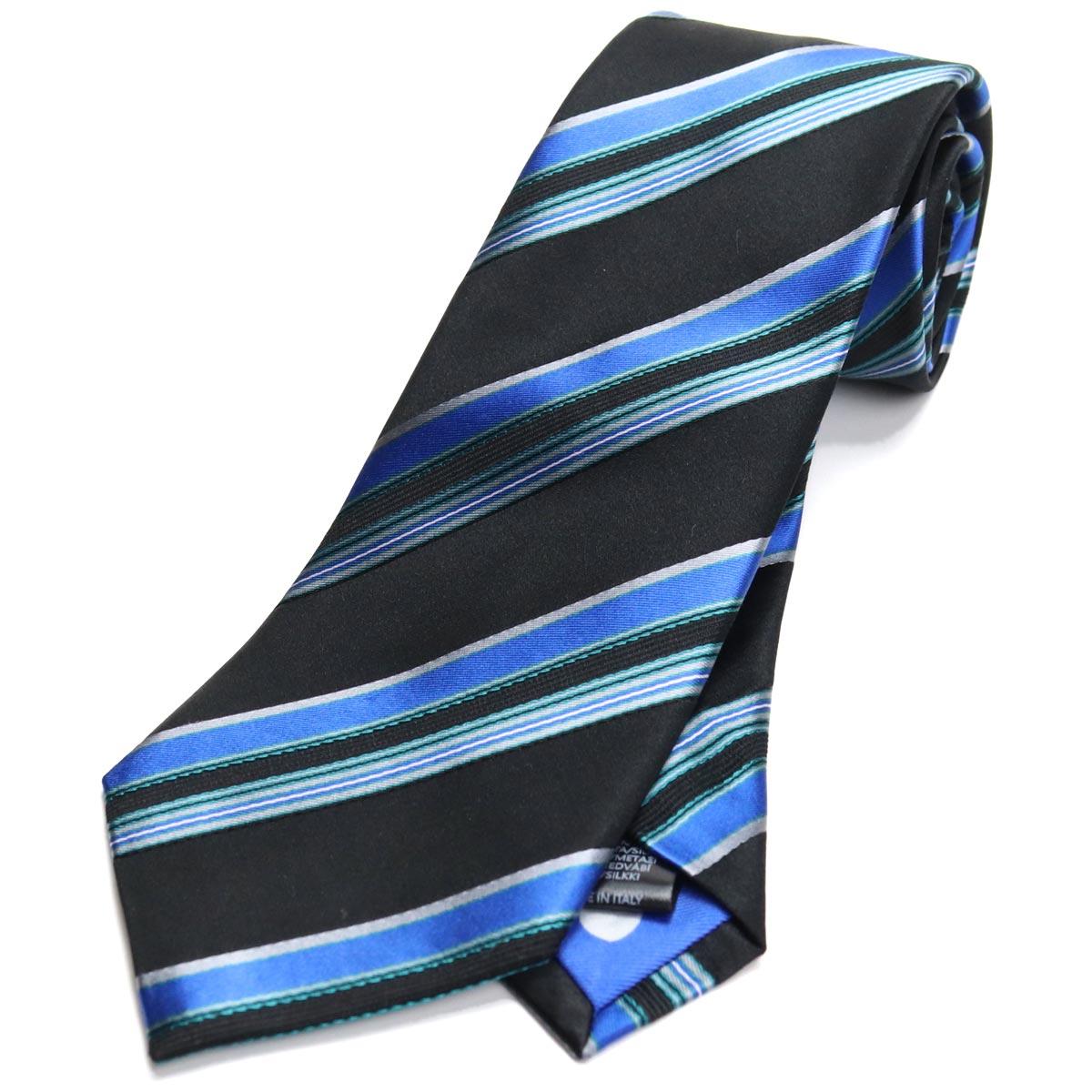 ※ 送料無料 ラッピング無料 ポール スミス Paul Smith ストライプ柄 ネクタイ レギュラータイ M1A552M 授与 ブラック brand men's ALU770 ブランド 41 necktie メンズ 開店記念セール gsm-5 マルチカラー