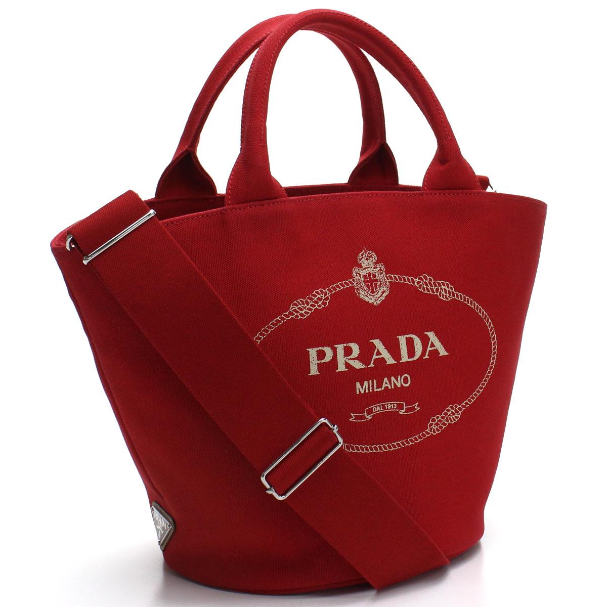 プラダ PRADA カナパ 2way ハンドバッグ 1BG186 ZKI V OOO F0011 ROSSO レッド系 レディース