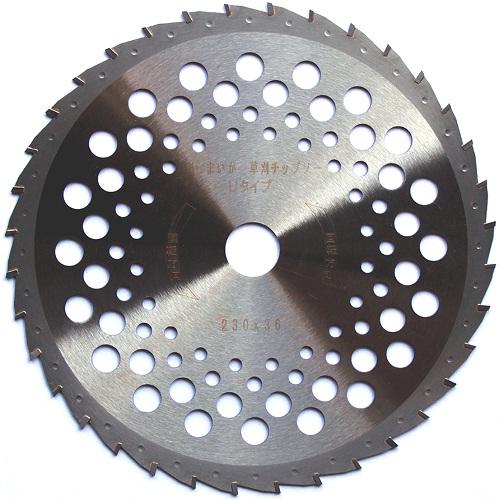 刈払機 替刃 刃 草刈 230mm X 36P 1枚 U型チップを使用し、切れ味 従来の2倍! 注文殺到中 刈払機 草刈 230mm X 36P 1枚 替刃 刃 切味 重視型 チップソー 刈らまいか Uタイプ トリガー