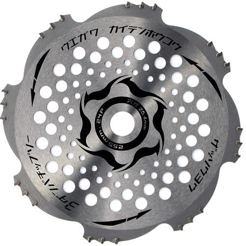今、話題の品 刈払機 草刈 255mm X 24P 200枚 替刃 刃 チップソー 草刈り刃 草刈機 3段刃 トリガー